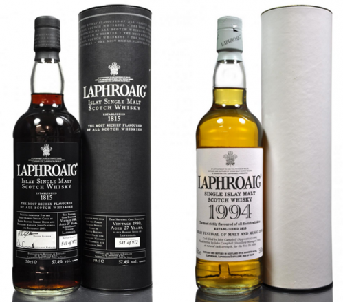 Laphroig whiskies