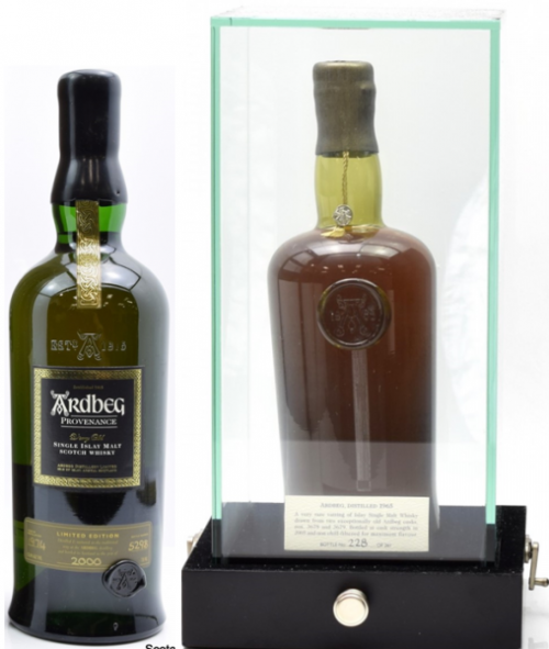 Ardbeg Whisky Bottles