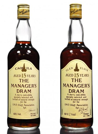 Managers Dram Whisky 15 yr old