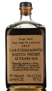 1967 Largiemeanoch whisky