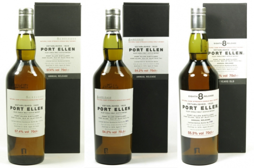 Port Ellen Whisky Bottles