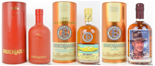 Bruichladdich record breaking whiskies
