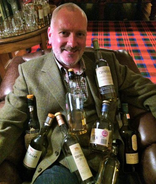 Andy with the special release whiskies