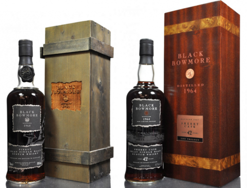 Brace of black bowmore whiskies